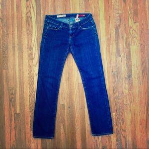 Express - low rise skinny jean - dark